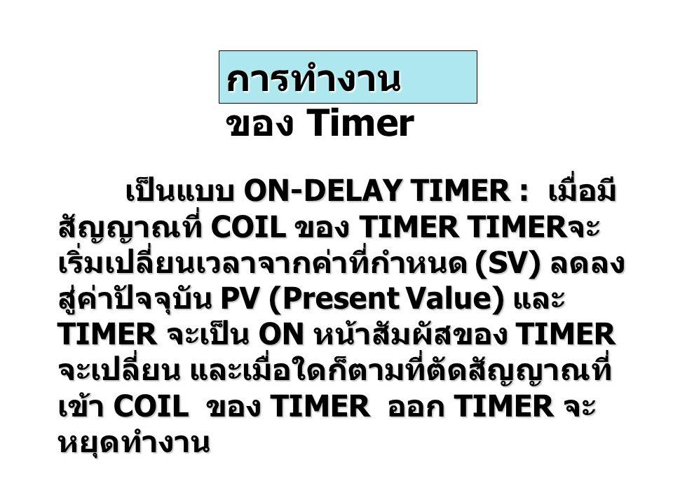 การทำงานของ Timer