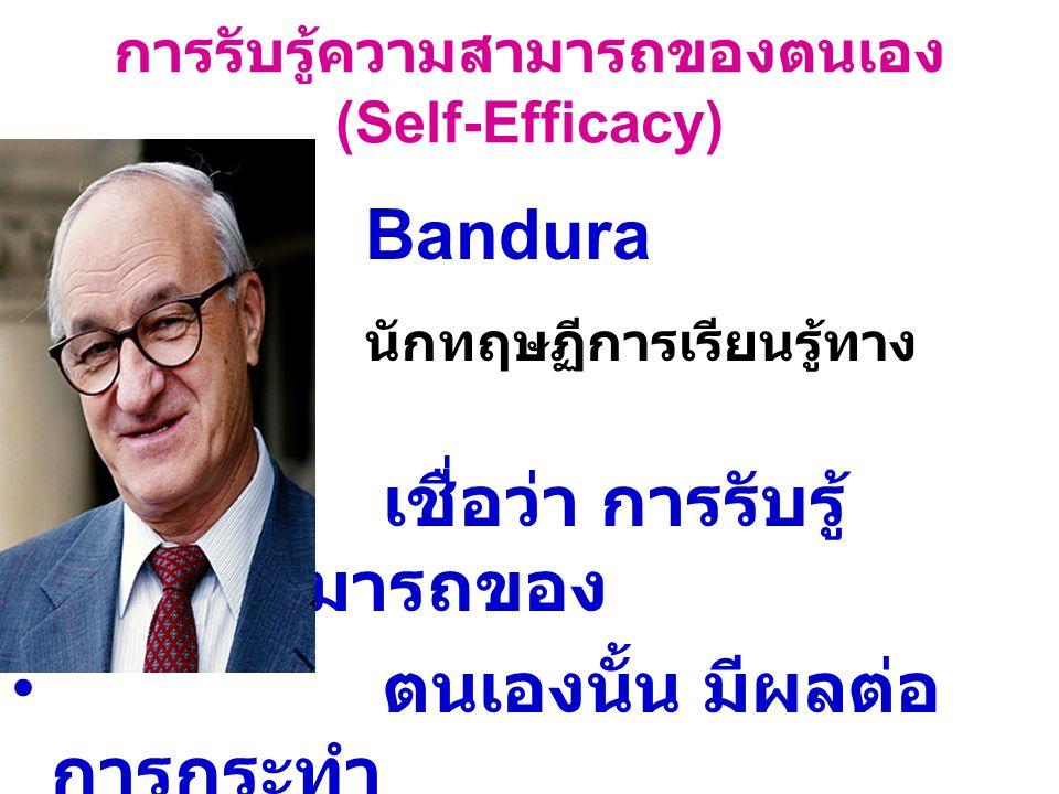 การรับรู้ความสามารถของตนเอง (Self-Efficacy)