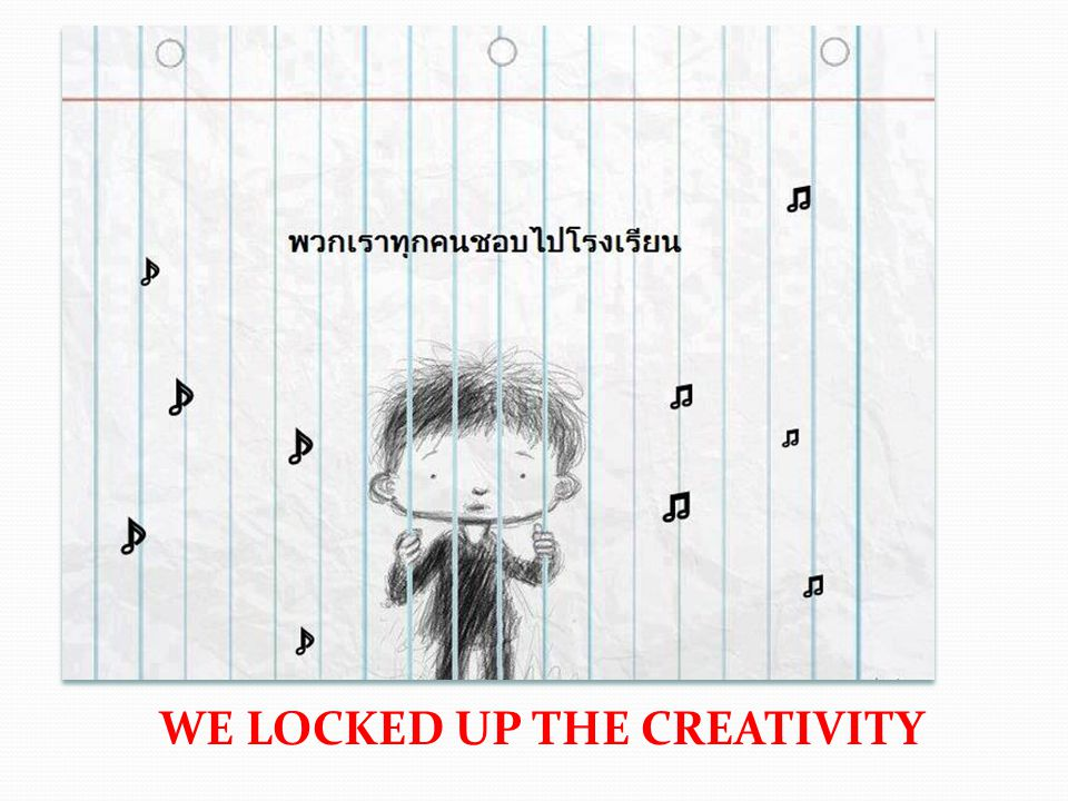 WE LOCKED UP THE CREATIVITY