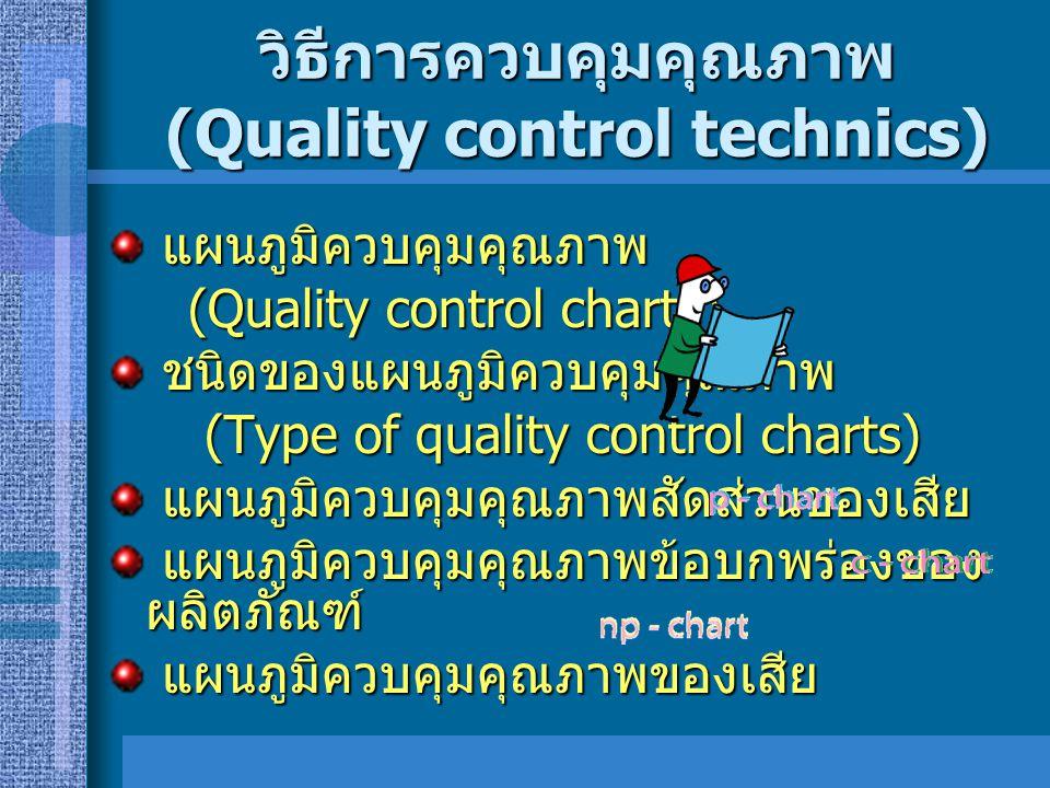 วิธีการควบคุมคุณภาพ (Quality control technics)