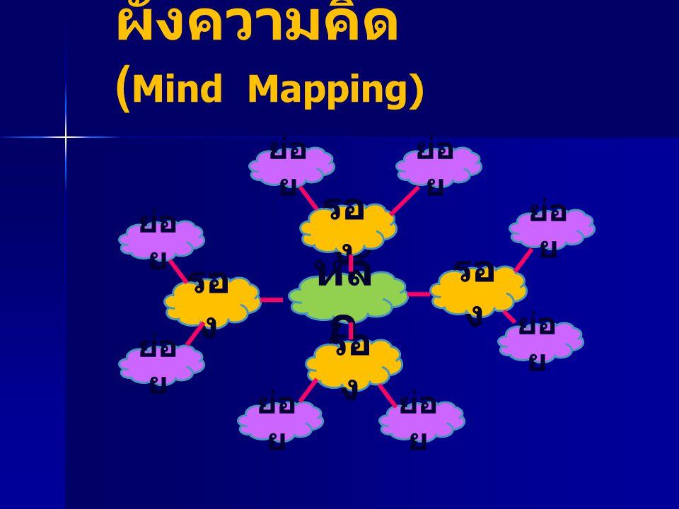 ผังความคิด (Mind Mapping)