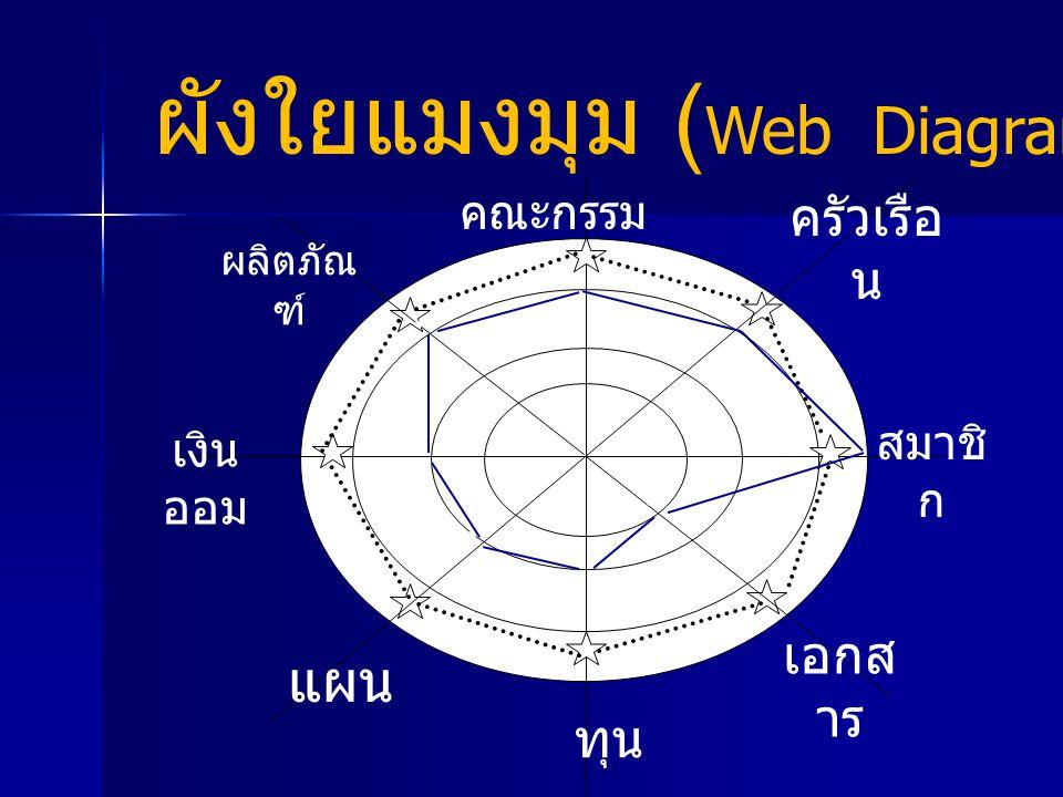 ผังใยแมงมุม (Web Diagram)