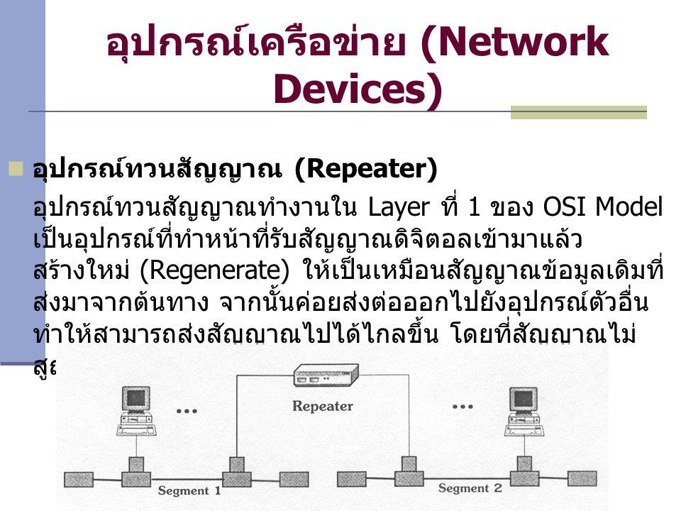 อุปกรณ์เครือข่าย (Network Devices)