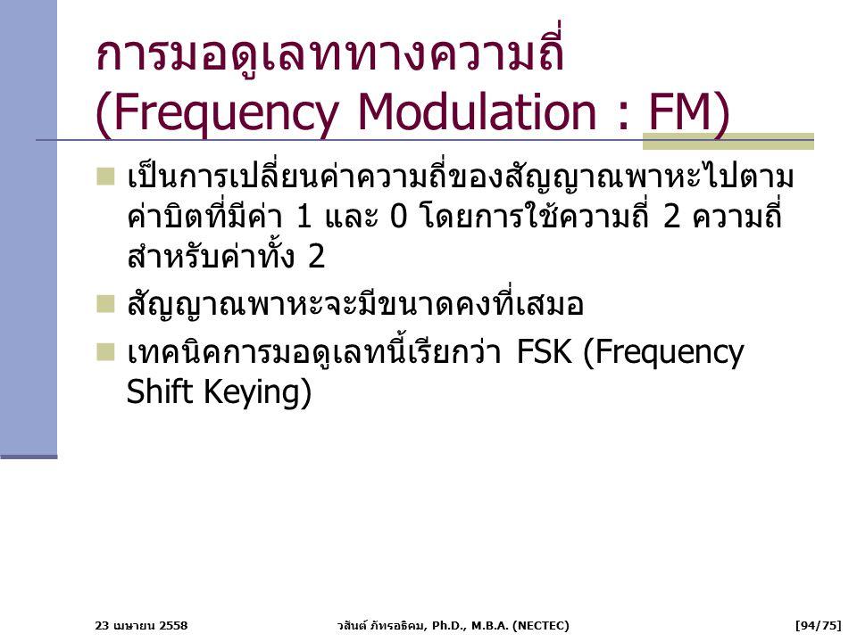 การมอดูเลททางความถี่ (Frequency Modulation : FM)