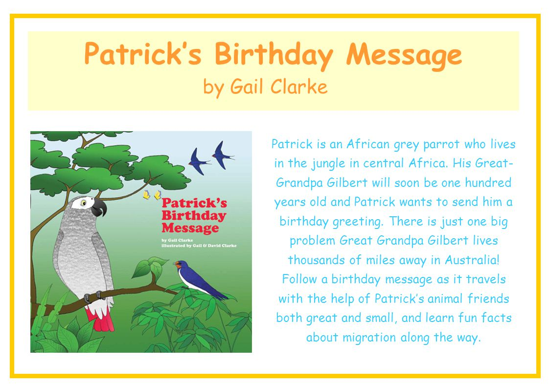 Patrick's Birthday Message
