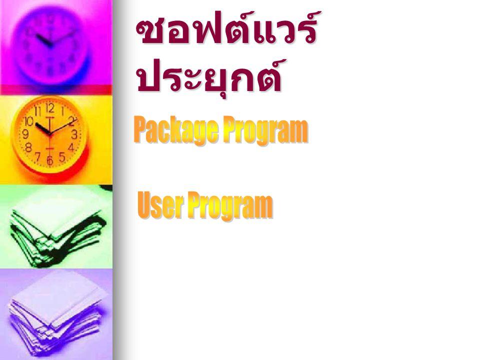ซอฟต์แวร์ประยุกต์ Package Program User Program