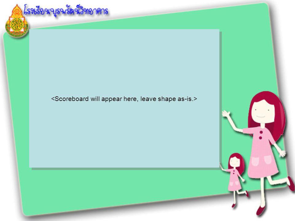<Scoreboard will appear here, leave shape as-is.>