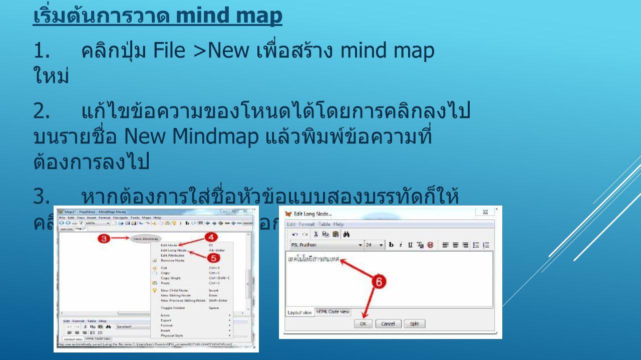 เริ่มต้นการวาด mind map 1