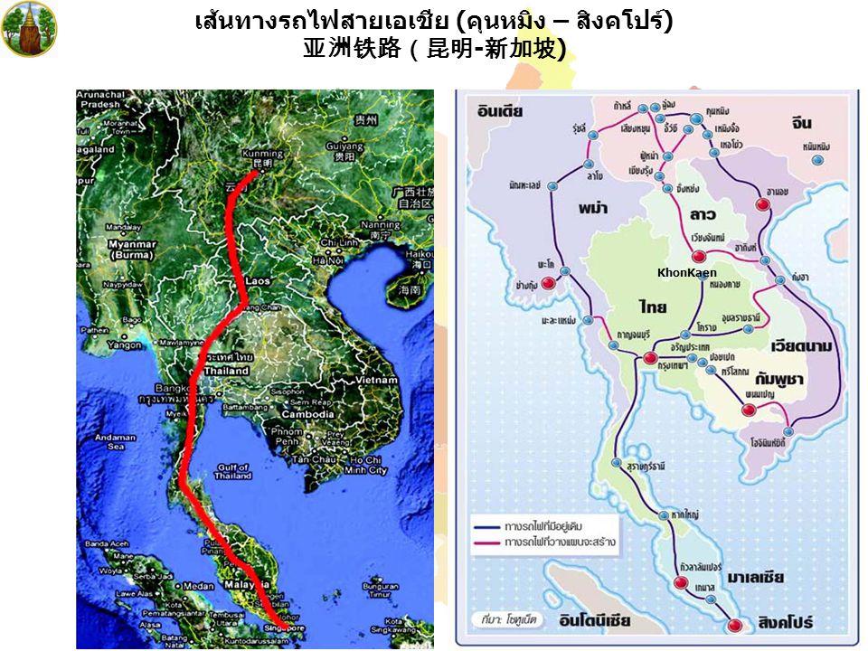 เส้นทางรถไฟสายเอเชีย (คุนหมิง – สิงคโปร์) 亚洲铁路(昆明-新加坡)