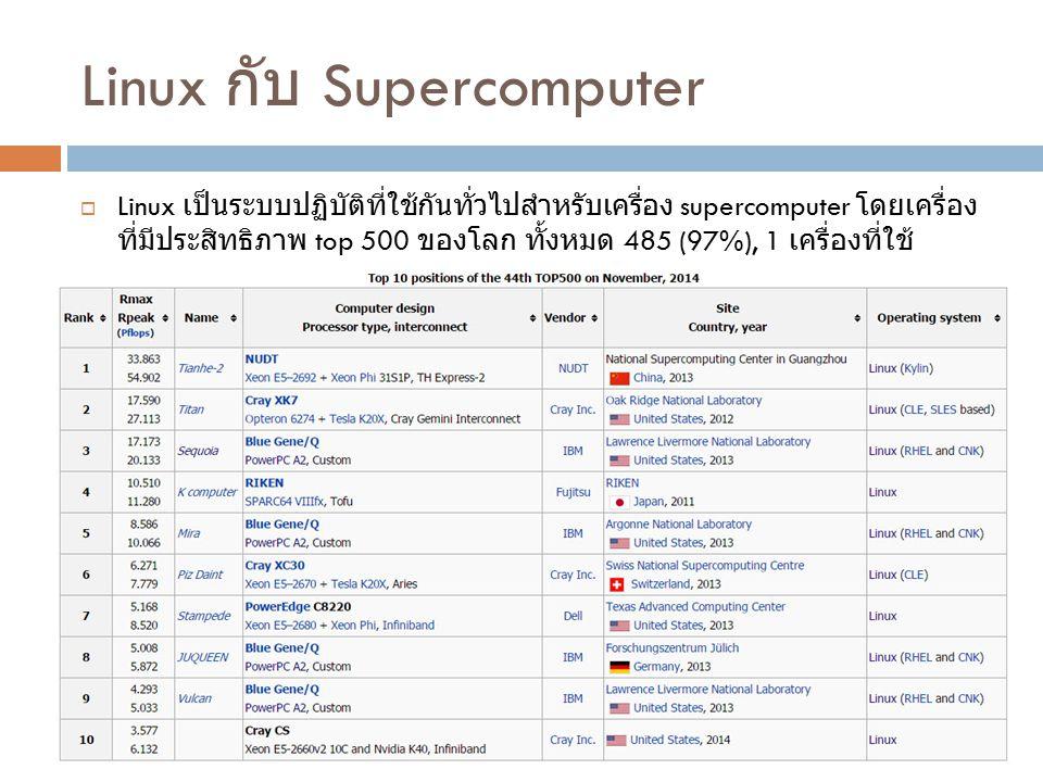 Linux กับ Supercomputer