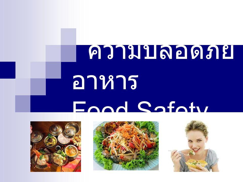 ความปลอดภัยอาหาร Food Safety