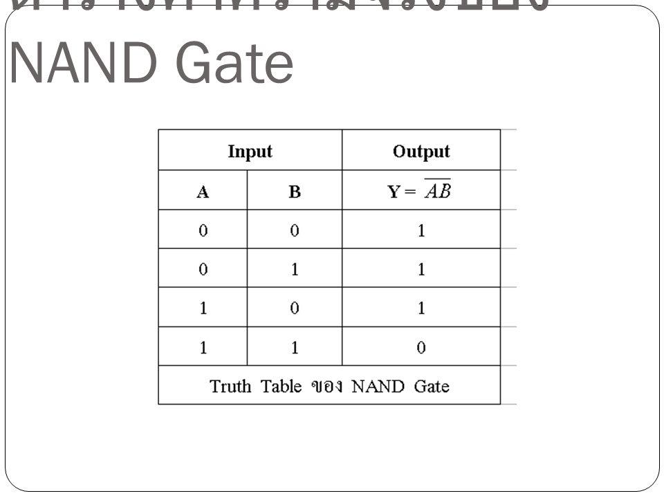 ตารางค่าความจริงของ NAND Gate