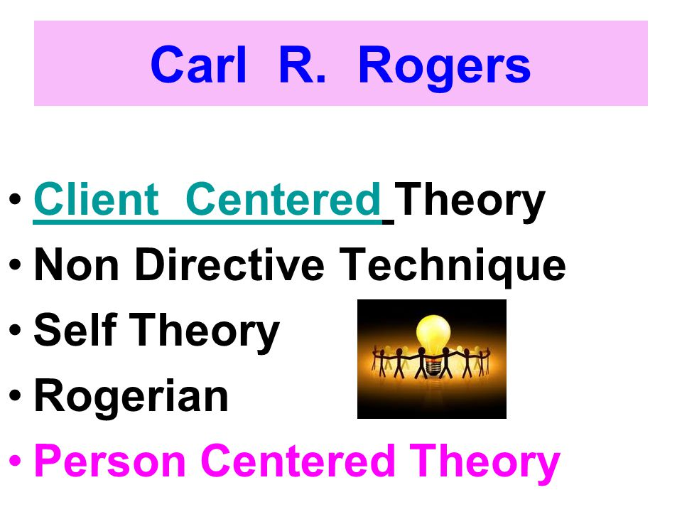 Carl R. Rogers Client Centered Theory Non Directive Technique
