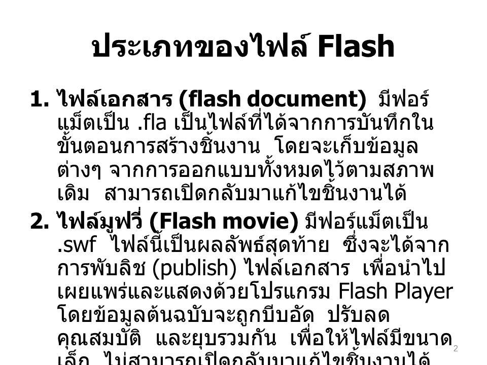 ประเภทของไฟล์ Flash