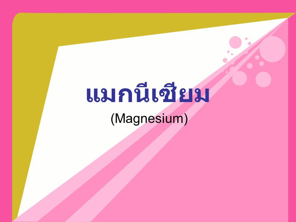 แมกนีเซียม (Magnesium)