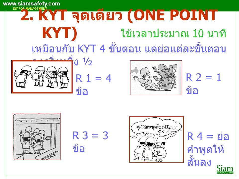 2. KYT จุดเดียว (ONE POINT KYT)