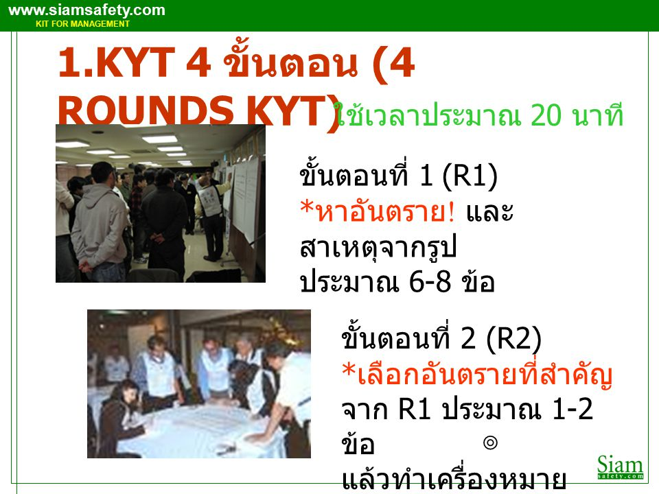 1.KYT 4 ขั้นตอน (4 ROUNDS KYT)