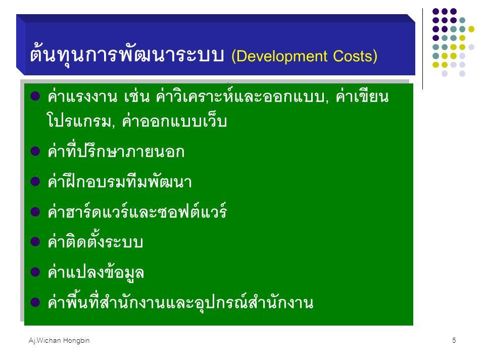 ต้นทุนการพัฒนาระบบ (Development Costs)