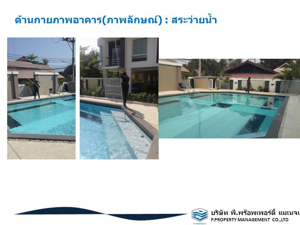 ด้านกายภาพอาคาร(ภาพลักษณ์) : สระว่ายน้ำ