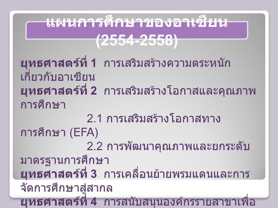 แผนการศึกษาของอาเซียน (2554-2558)