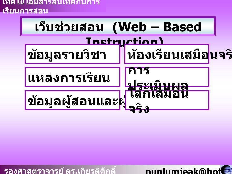 เว็บช่วยสอน (Web – Based Instruction)