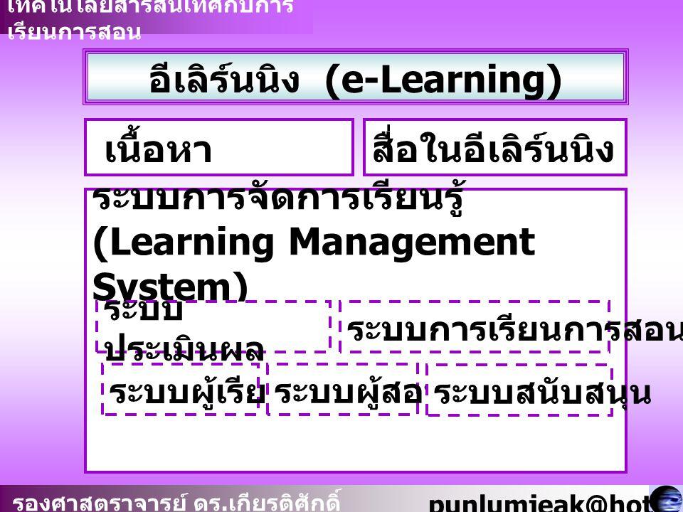 อีเลิร์นนิง (e-Learning)