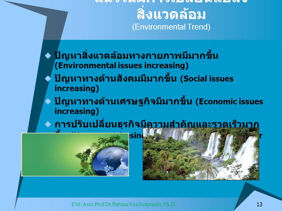 แนวโน้มการเปลี่ยนแปลงสิ่งแวดล้อม (Environmental Trend)