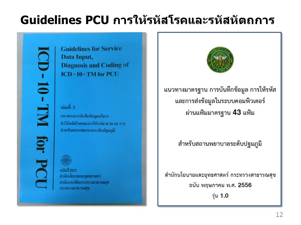 Guidelines PCU การให้รหัสโรคและรหัสหัตถการ