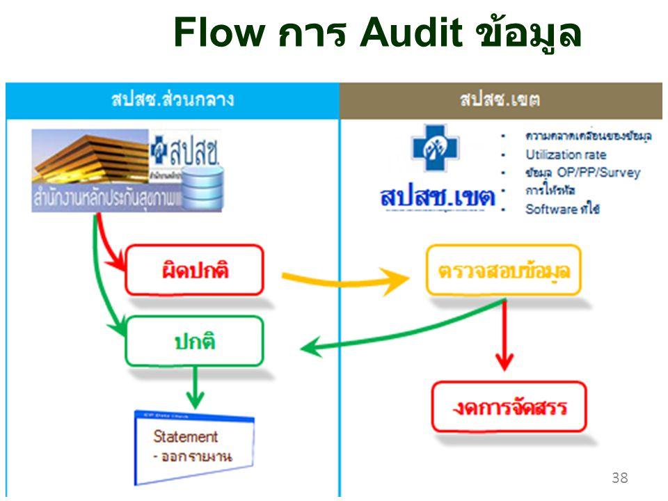 Flow การ Audit ข้อมูล