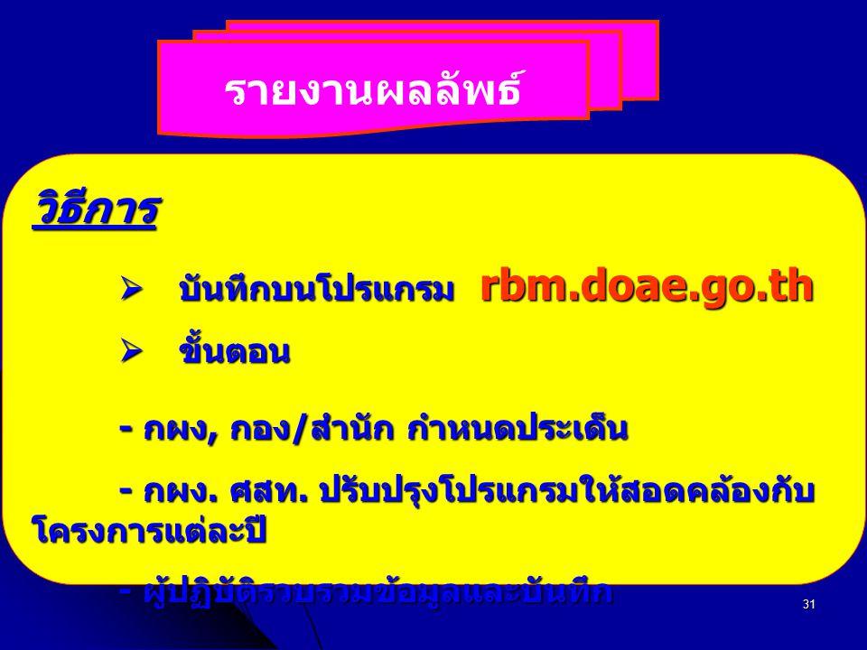  บันทึกบนโปรแกรม rbm.doae.go.th