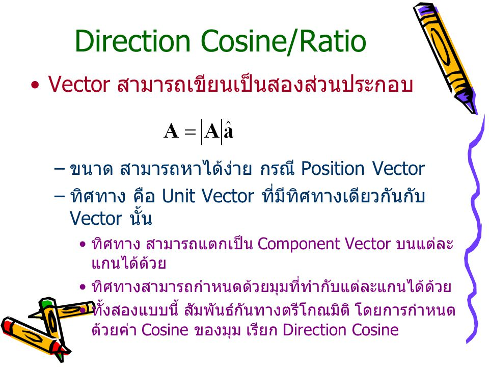 Direction Cosine/Ratio