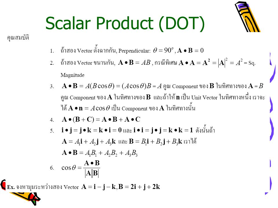 Scalar Product (DOT)