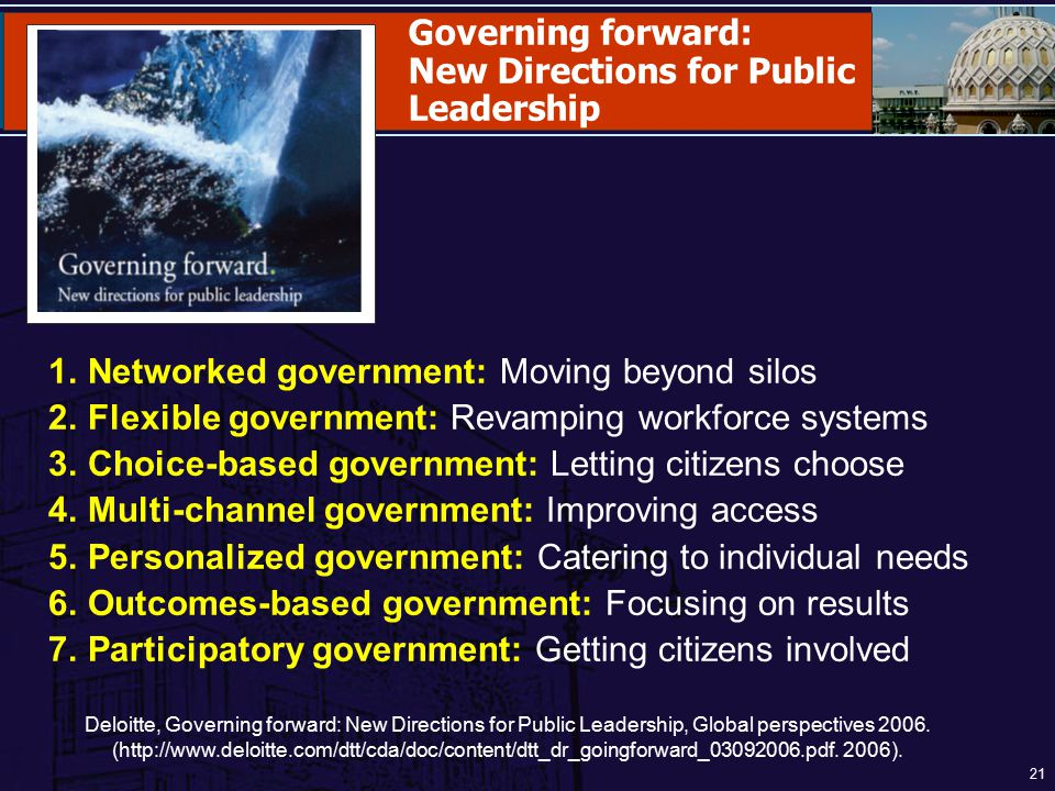 New Directions for Public Leadership