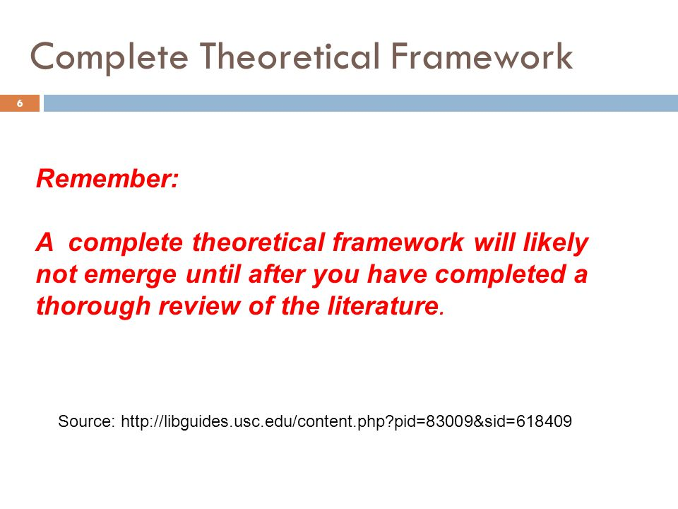 Complete Theoretical Framework