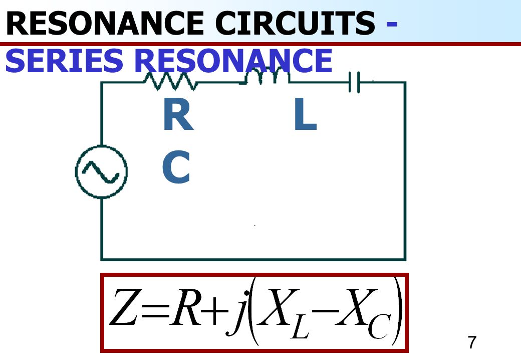 RESONANCE CIRCUITS - SERIES RESONANCE