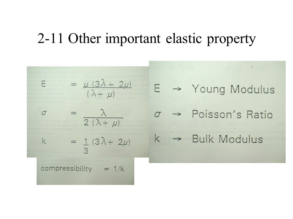 2-11 Other important elastic property