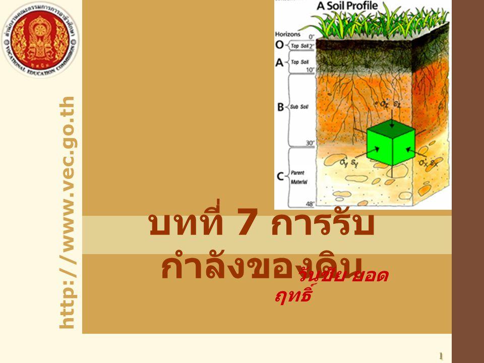 บทที่ 7 การรับกำลังของดิน