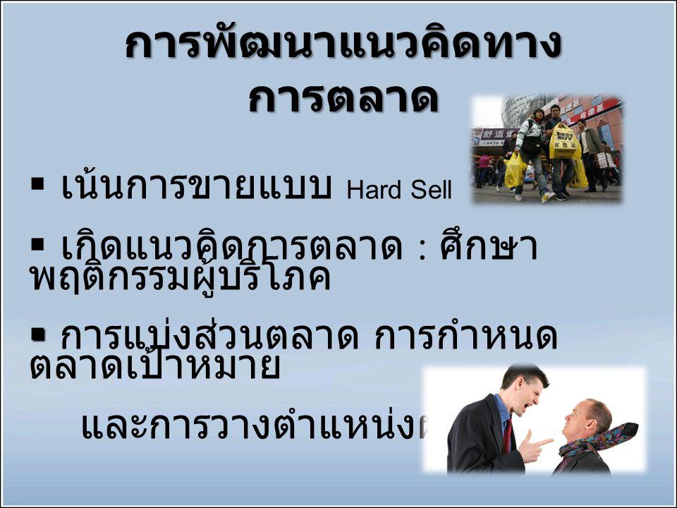การพัฒนาแนวคิดทางการตลาด