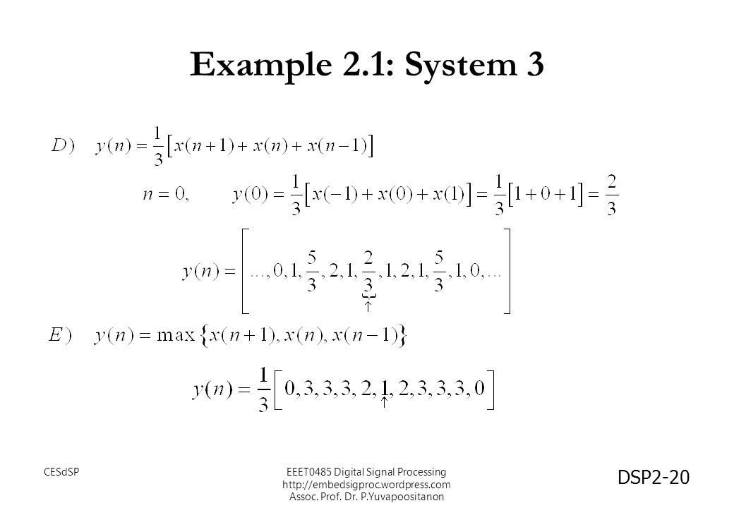 Example 2.1: System 3 CESdSP