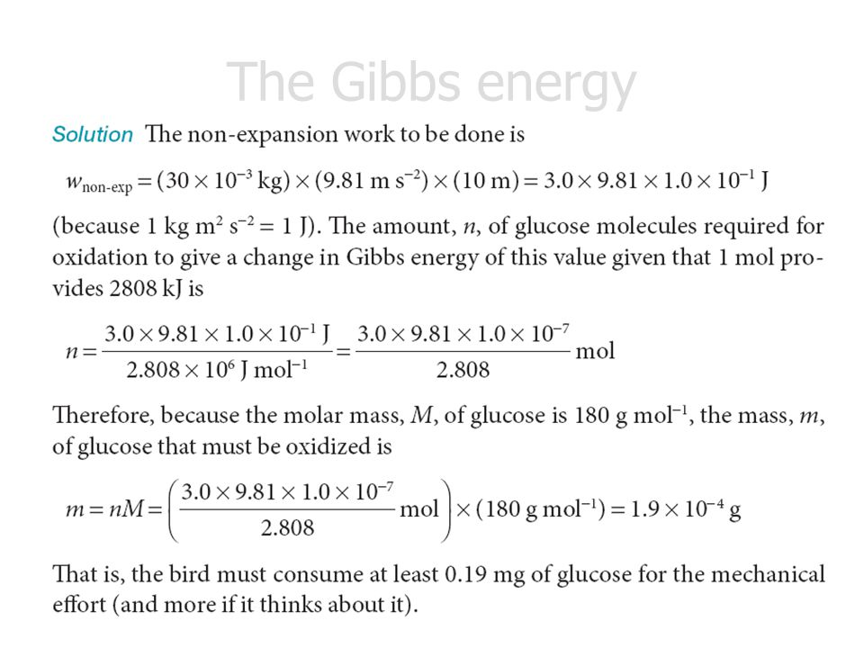 The Gibbs energy