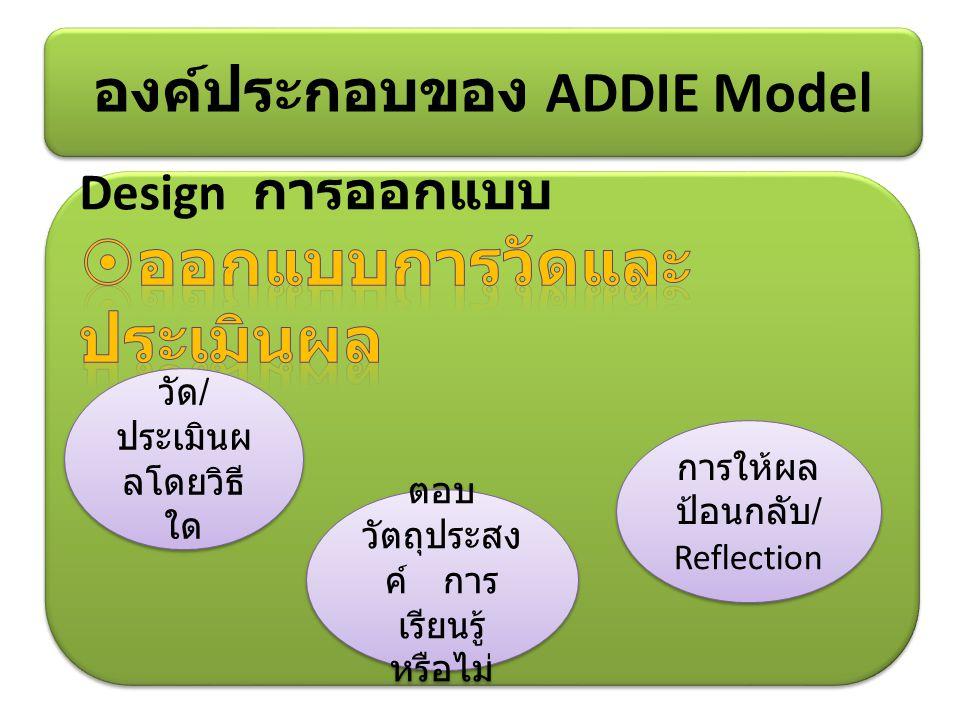 องค์ประกอบของ ADDIE Model