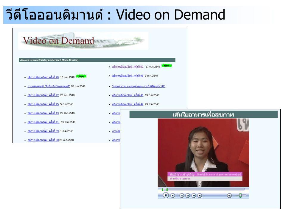 วีดีโอออนดิมานด์ : Video on Demand