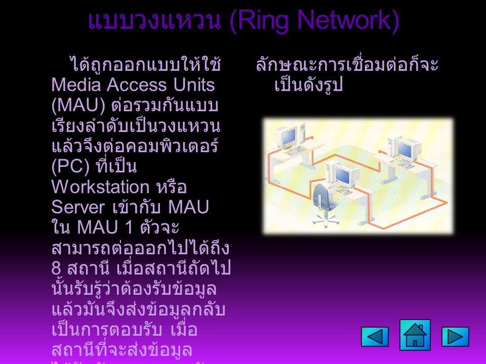 แบบวงแหวน (Ring Network)
