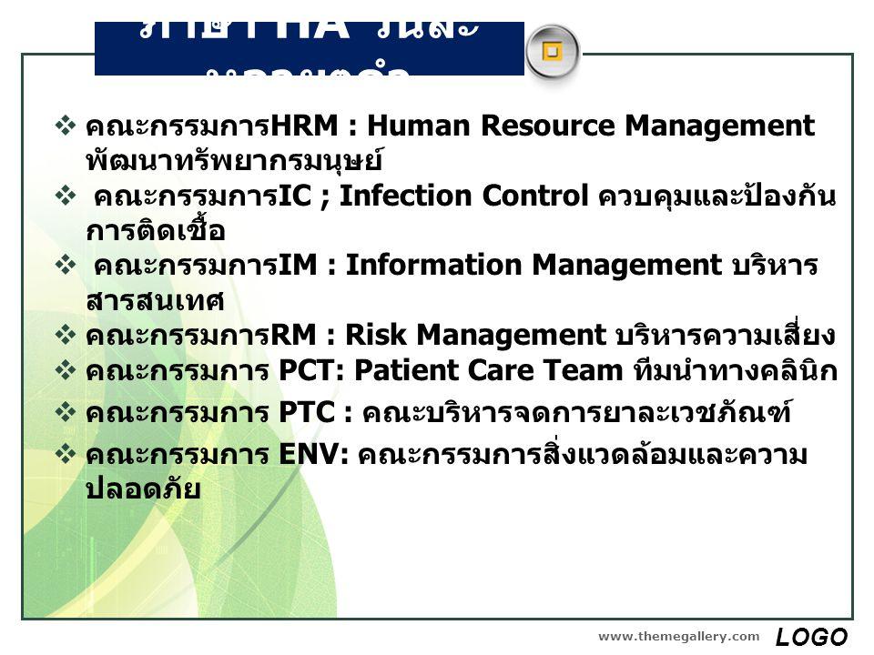 ภาษา HA วันละหลายๆคำ คณะกรรมการHRM : Human Resource Management พัฒนาทรัพยากรมนุษย์ คณะกรรมการIC ; Infection Control ควบคุมและป้องกันการติดเชื้อ.