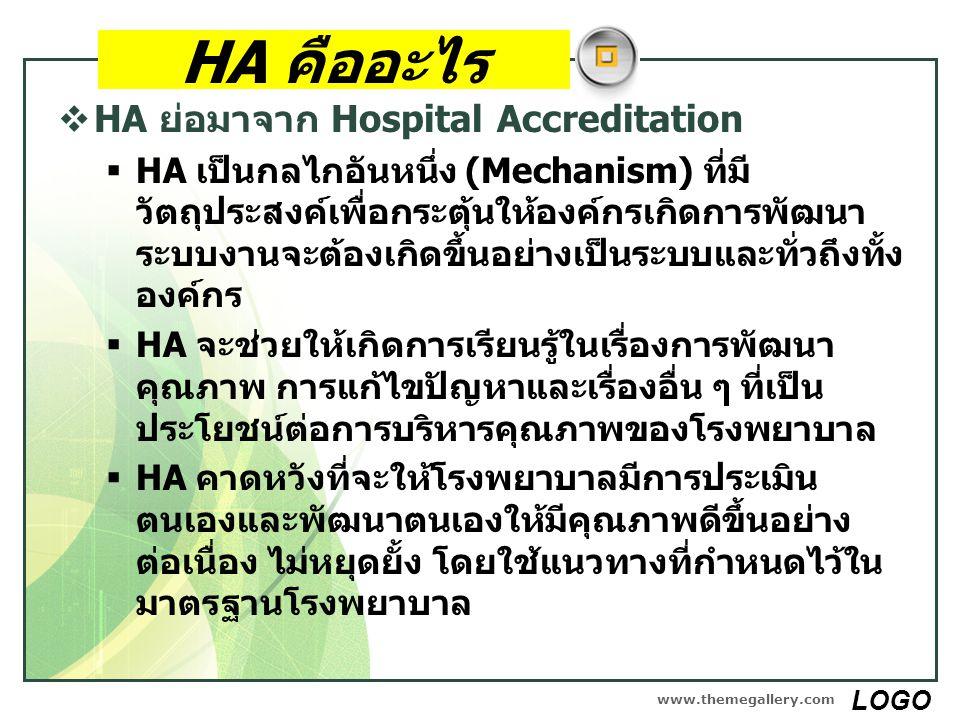 HA คืออะไร HA ย่อมาจาก Hospital Accreditation