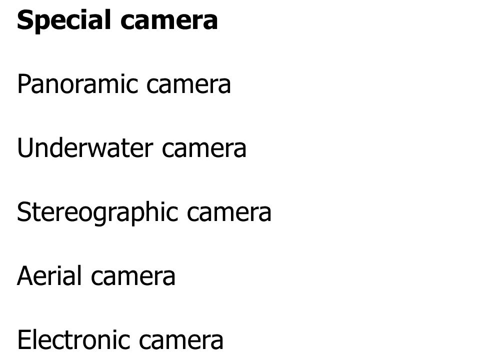 Special camera Panoramic camera. Underwater camera.