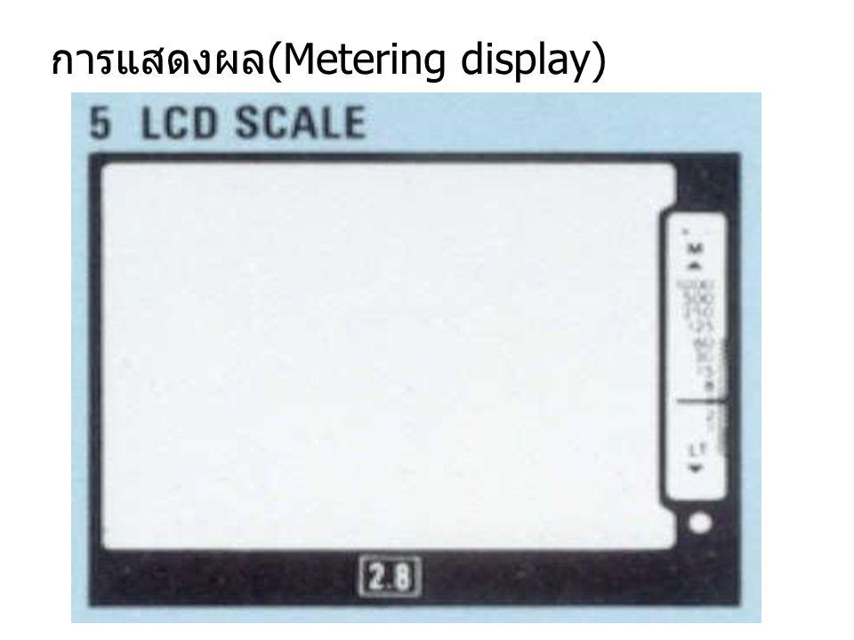 การแสดงผล(Metering display)