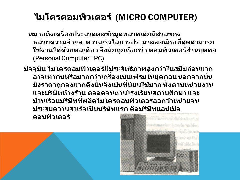 ไมโครคอมพิวเตอร์ (Micro Computer)