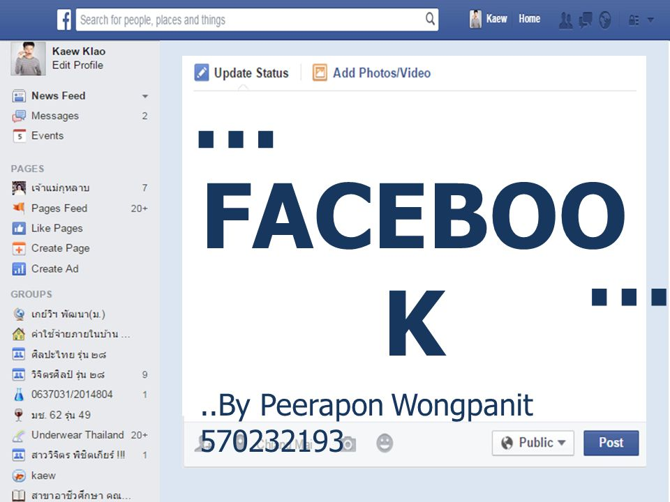 … FACEBOOK … ..By Peerapon Wongpanit 570232193