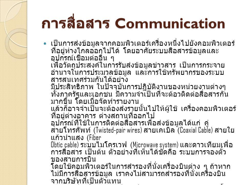 การสื่อสาร Communication